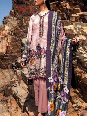 Baroque Luxury Embroidered Winter Khaddar Collection Replica 2019