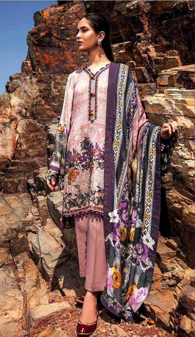 80785a3aec Baroque Luxury Embroidered Winter Khaddar Collection Replica 2019