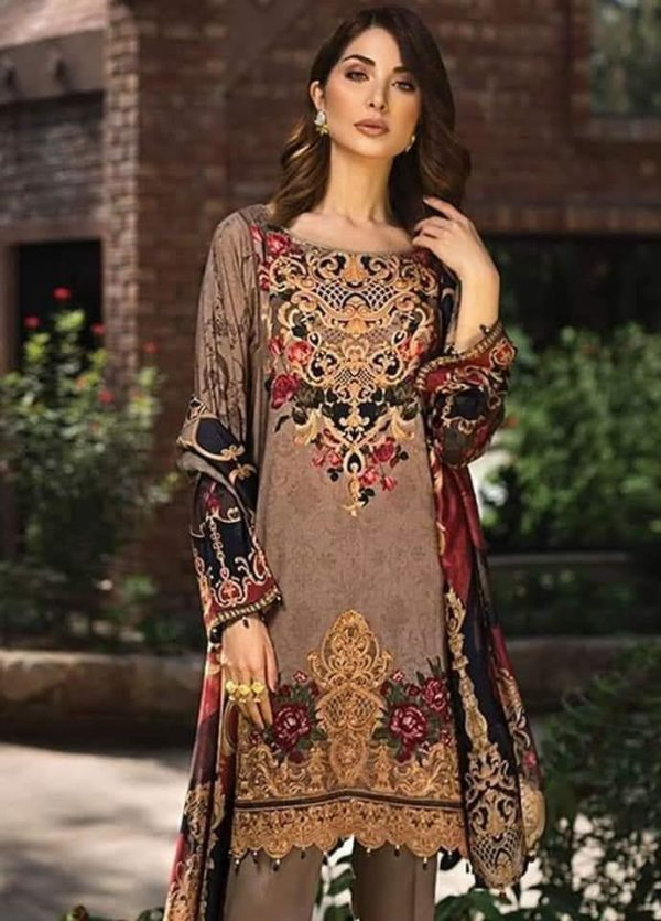 Baroque Latest Embroidered Winter Linen Collection Replica
