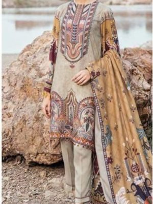 Baroque Latest Embroidered Linen Winter Collection Replica