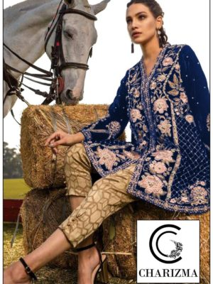 Charizma Latest Embroidered Winter Velvet Collection Replica 2019