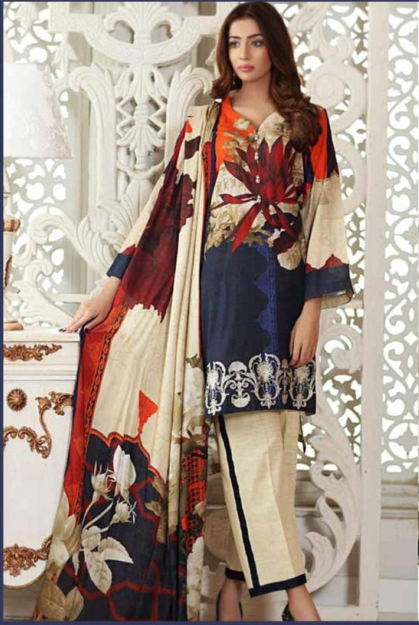 Charizma Luxury Embroidered Winter Linen Collection Replica
