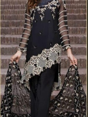 EmbRoyal Luxury Embroidered Bamber Chiffon Collection Replica