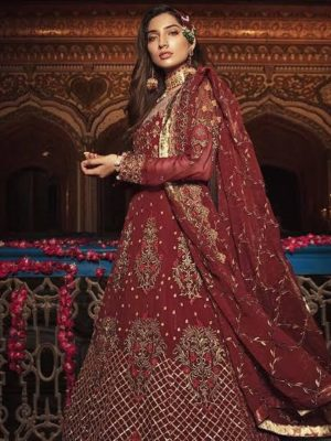 Embroyal Luxury Embroidered Bamber Chiffon Collection Master Replica
