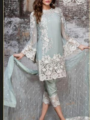 Emb Royal Luxury Moon Light Dove Bamber Chiffon 2pc Collection Replica