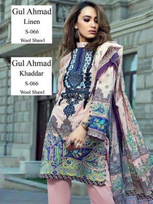 Gul Ahmed Luxury Embroidered Winter Khaddar Collection Replica