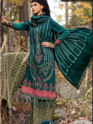 Maria b Luxury Embroidered Winter Khaddar Collection Replica 2019