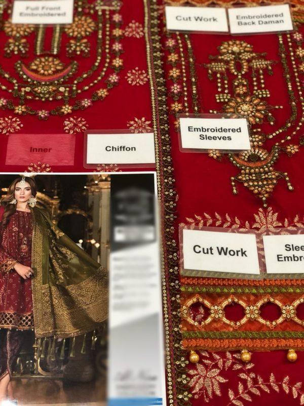 Maria B Luxury Nauratan (BD-1509) Embroidered Chiffon Collection Replica