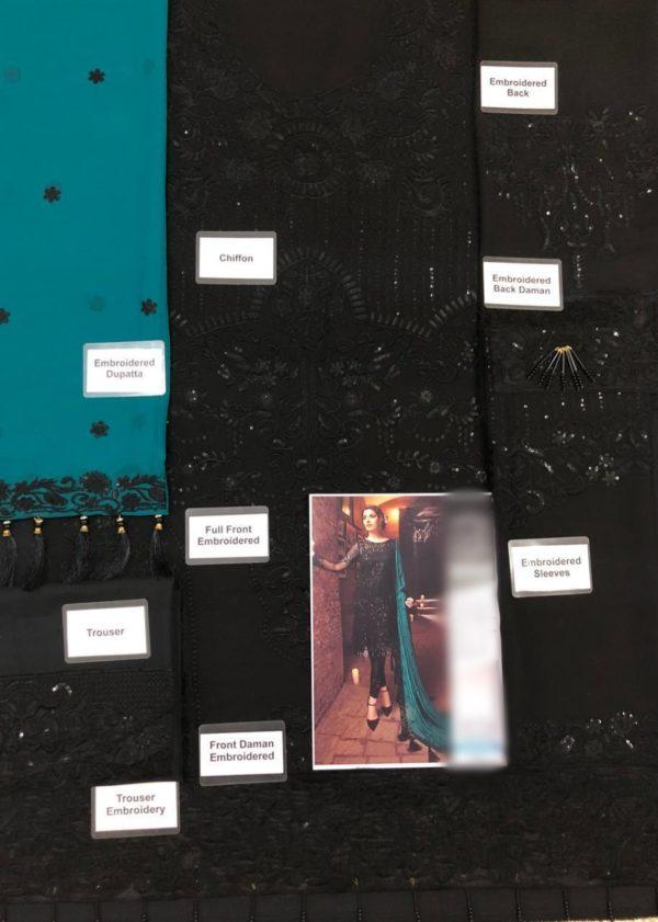 SERENE AURORA BOREALIS-04 LUXURY EMBROIDERED CHIFFON COLLECTION 2018 REPLICA