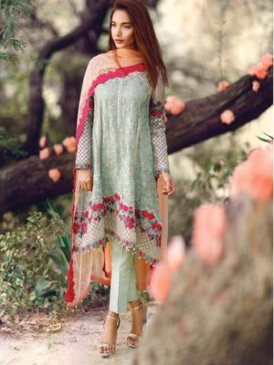 Serene Latest Embroidered Bamber Chiffon Collection Replica