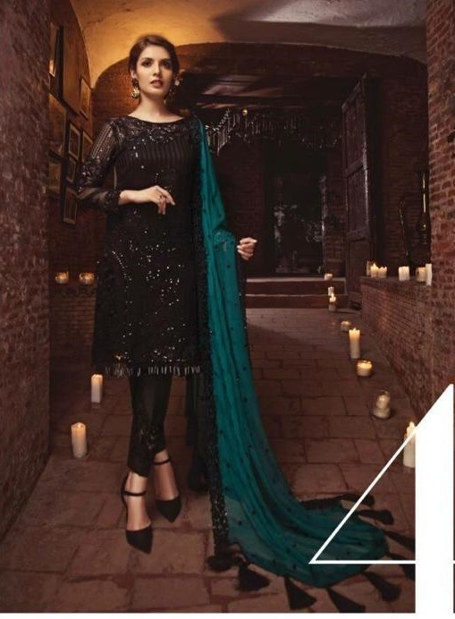 Serene Luxury Embroidered Bamber Chiffon Collection Master Replica