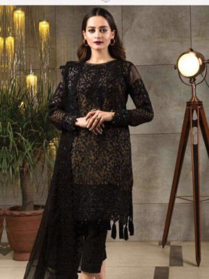 Serene Luxury Embroidered Bamber Chiffon Master Replica