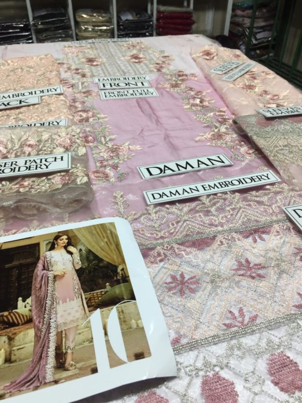 Serene Embroidered Rosy Posy Bamber Chiffon Collection Master Replica