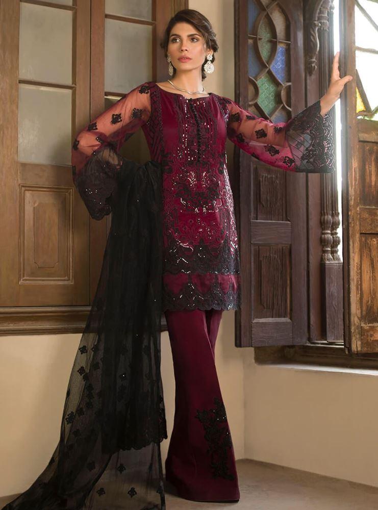 9911a09b04 Zainab Chottani Luxury Embroidered Net Master Replica 2019