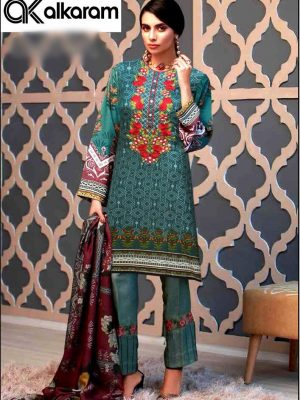 Alkaram Luxury Embroidered Lawn Collection Master Replica 2019