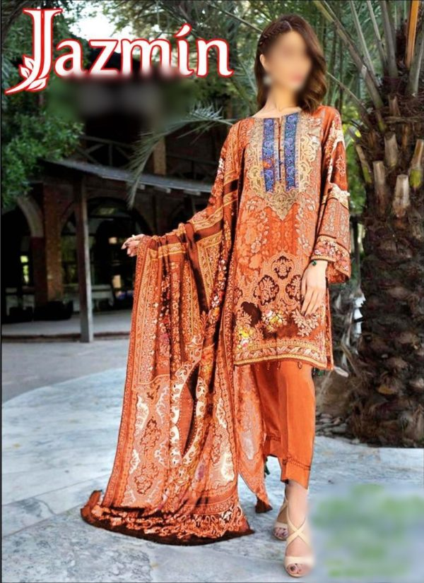 Jazmin Latest Embroidered Lawn Collection Master RJazmin Latest Embroidered Lawn Collection Master Replica 2019ica 2019