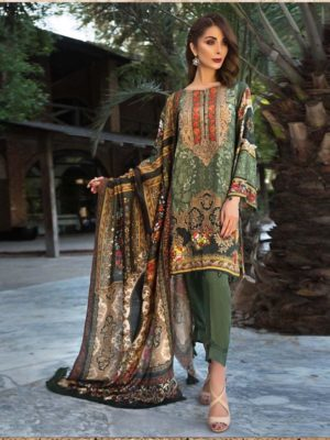 Jazmin Luxury Embroidered Lawn Collection Master Replica 2019
