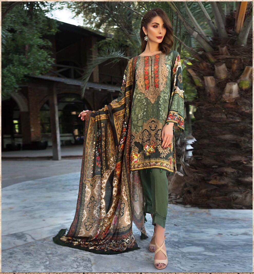 c749670890 Jazmin Luxury Embroidered Lawn Collection Master Replica 2019