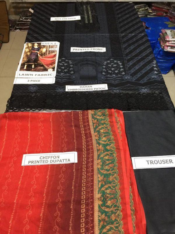 Maria B Latest Embroidered Lawn Collection Master Replica 2019