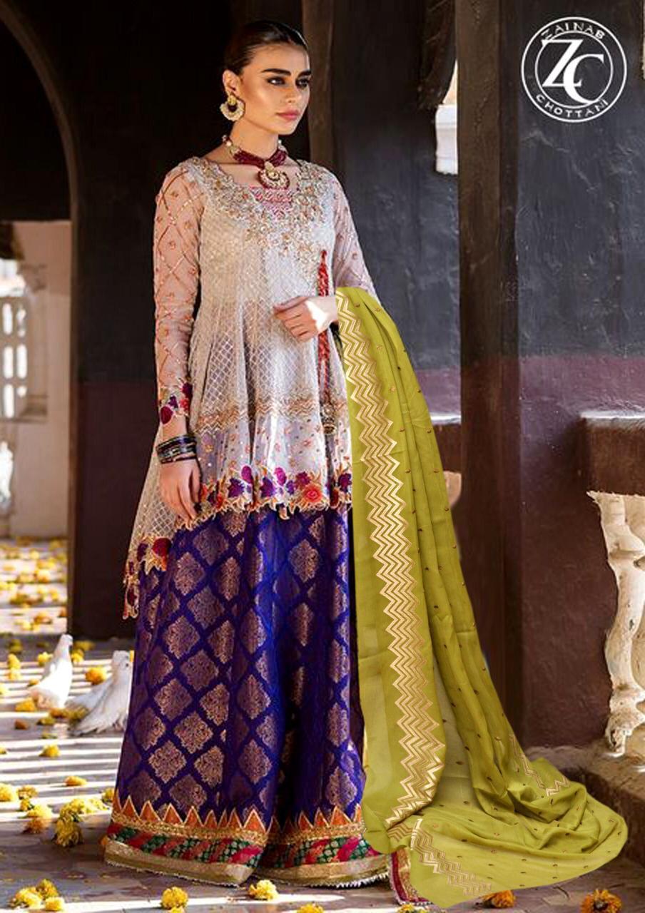 a665c9f75b Zainab Chottani Latest Embroidered Lawn Master Replica 2019