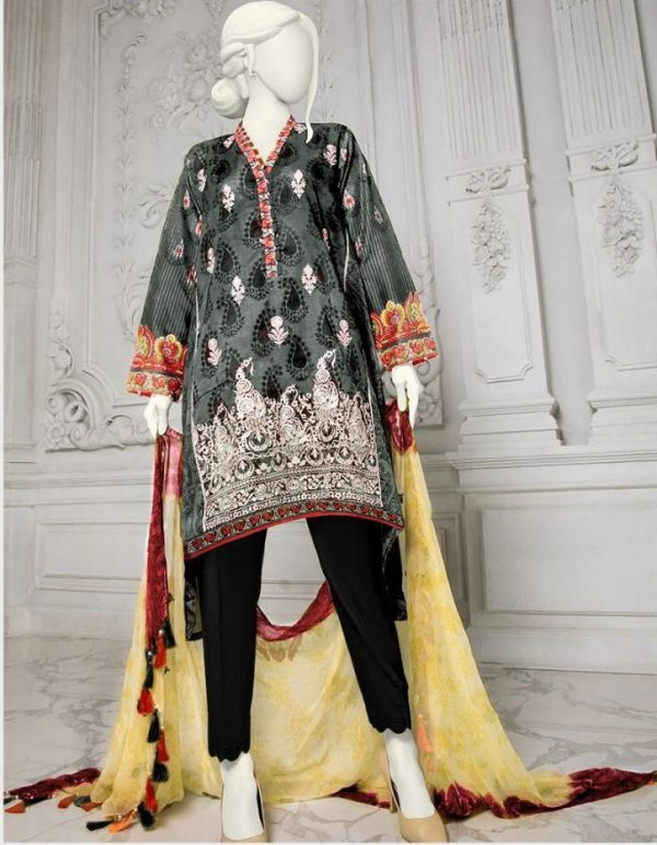 JUNAID JAMSHED Latest Embroidered Lawn Collection Master Replica 2019