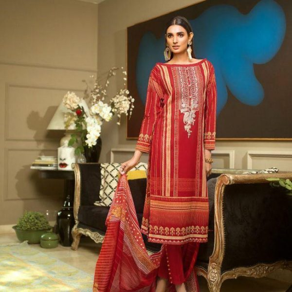 Gul ahmed Latest Embroidered Lawn Master Replica 2019