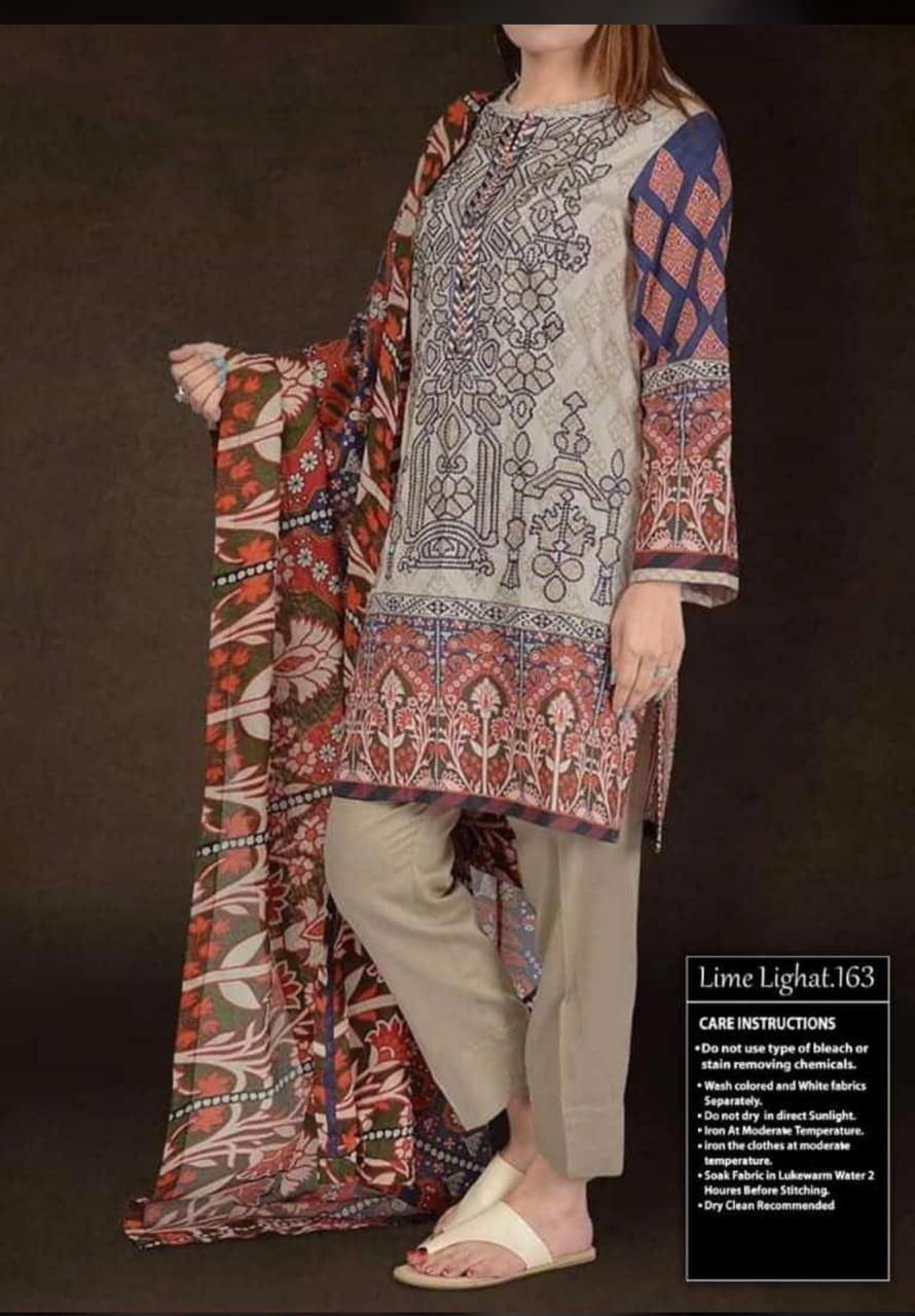 Limelight latest embroidered lawn collection master for Replica design