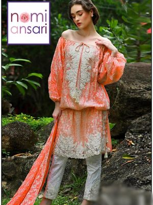 Nomi ansari Latest Embroidered Lawn Collection Replica 2019