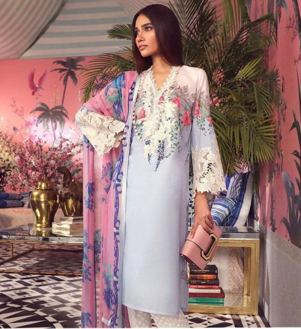 Sana safinaz Latest Embroidered Lawn Master Replica 2019