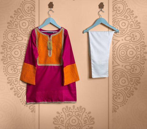Designer Stitched Kids Cotton Dress