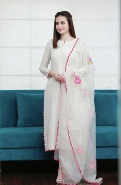 Sana Javed White Collection