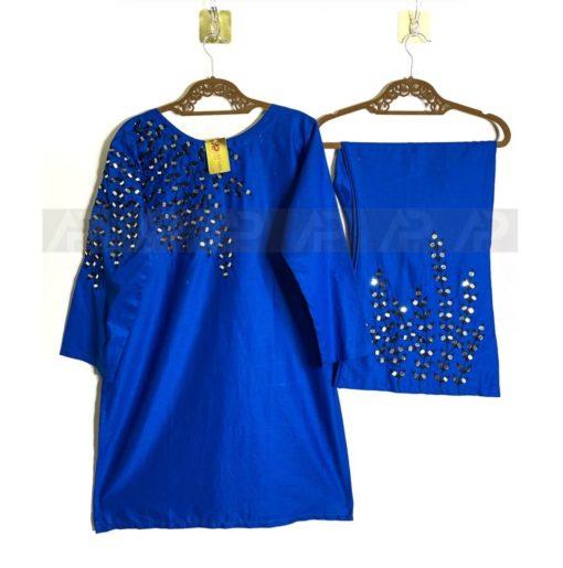 Blue Mirror work Cotton Collection