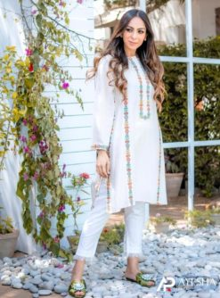 Embroidered White Suit Collection