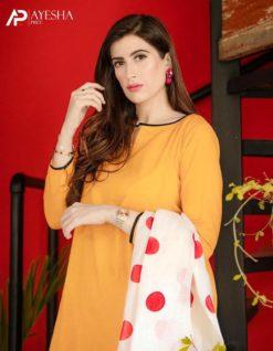 Yellow Dress with White Dupatta